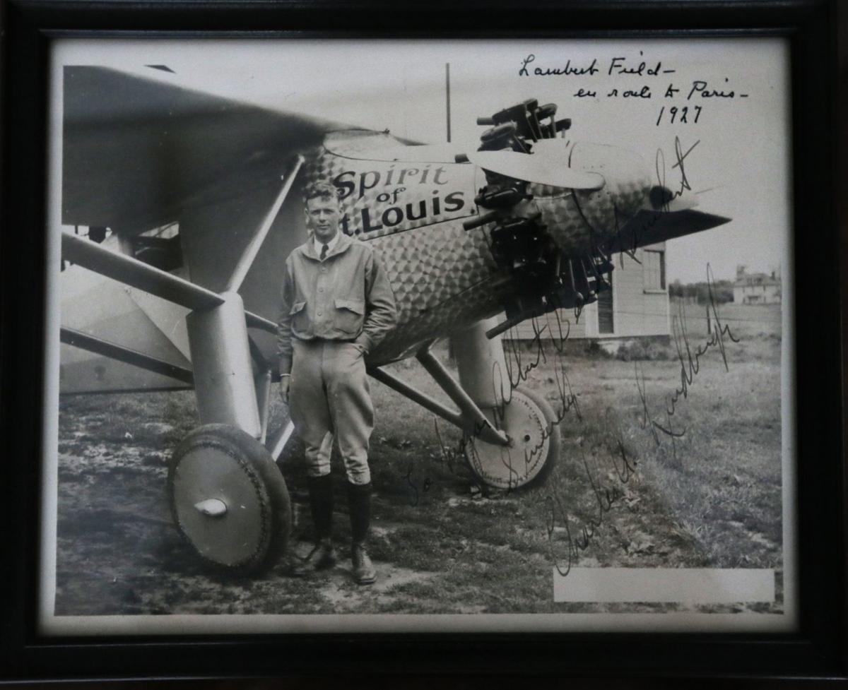 Memorabilia from great-grandchildren of Albert Bond Lambert, airport's namesake