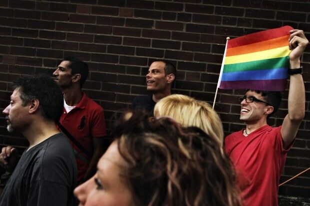 Rally at LGBT Center of St. Louis