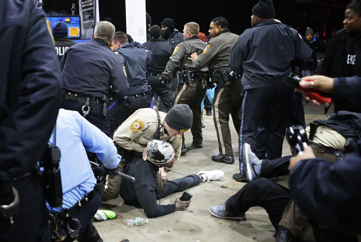Bruce Franks arrested at protest
