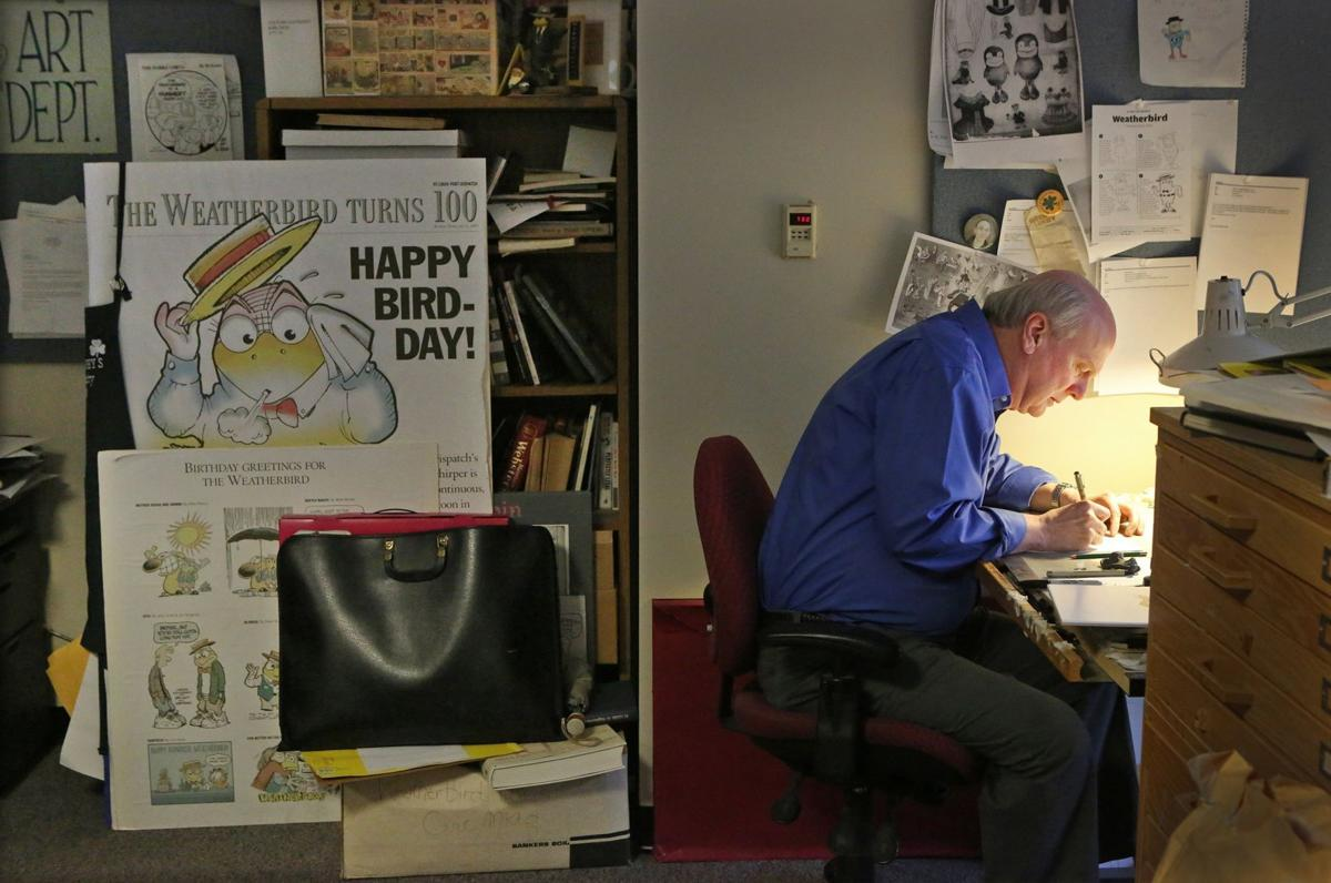 Artist Dan Martin is the man behind the Weatherbird