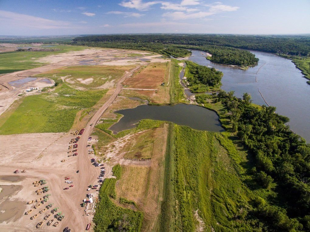 Aerial photo of Atchison County levee