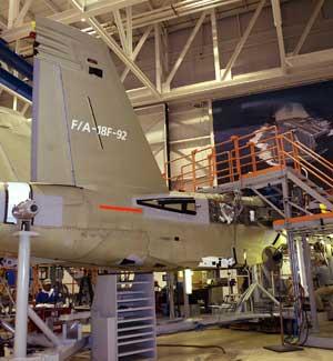 Boeing F-18 construction