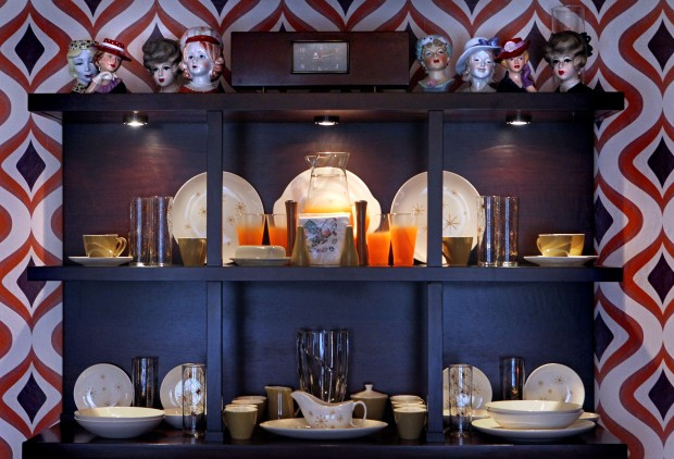 At Home With Glenn Starks And Steve Phillips : Cabinet In Dining Room