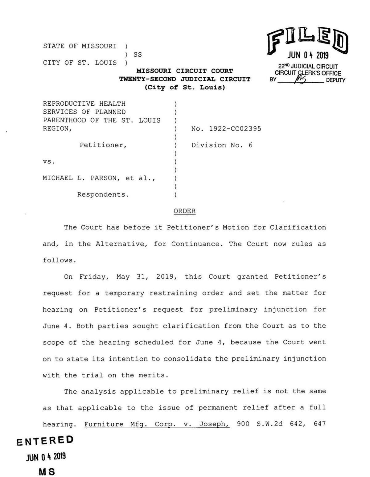 Read the judge's ruling in the Planned Parenthood case