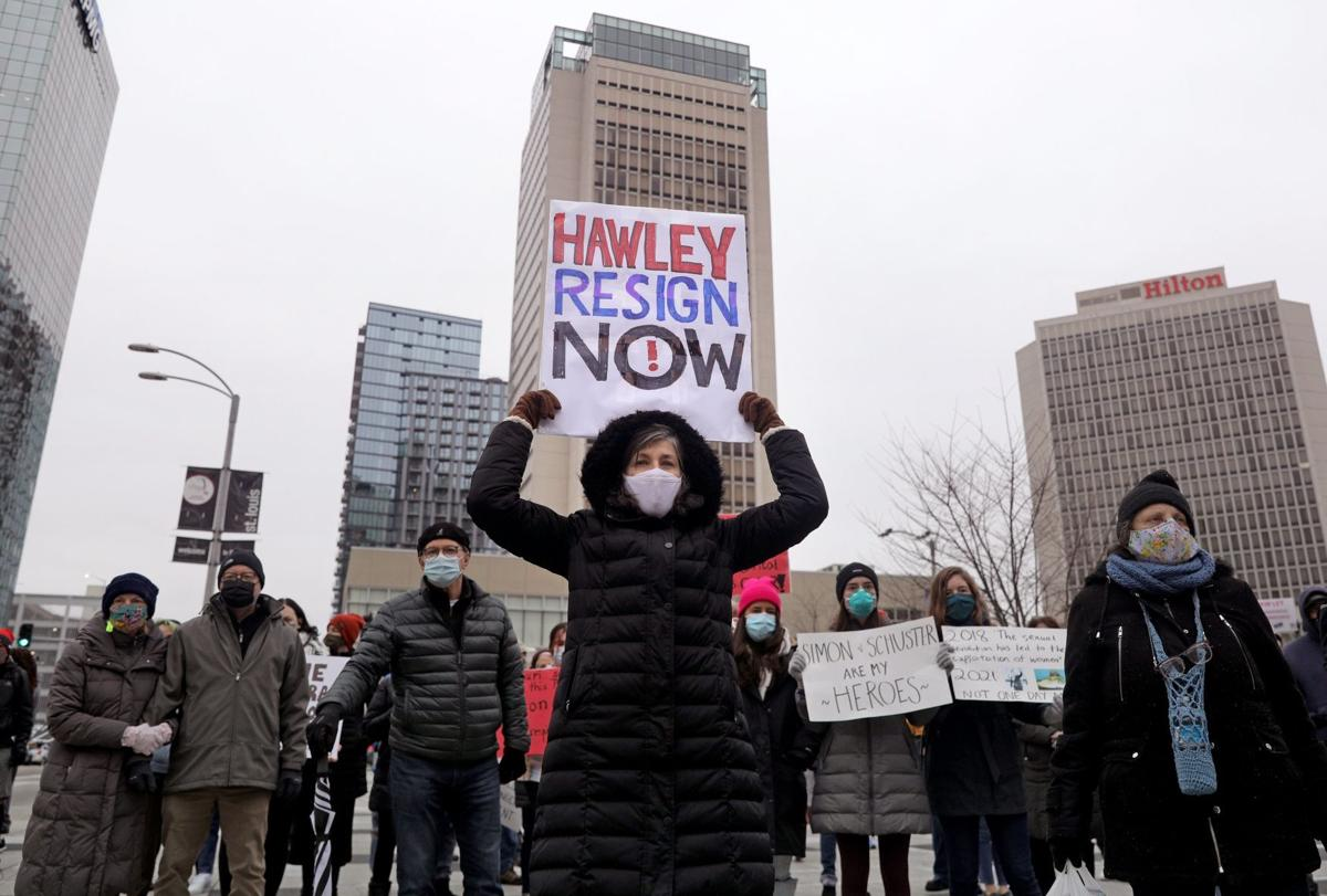 St. Louis demonstrators call for Hawley to resign