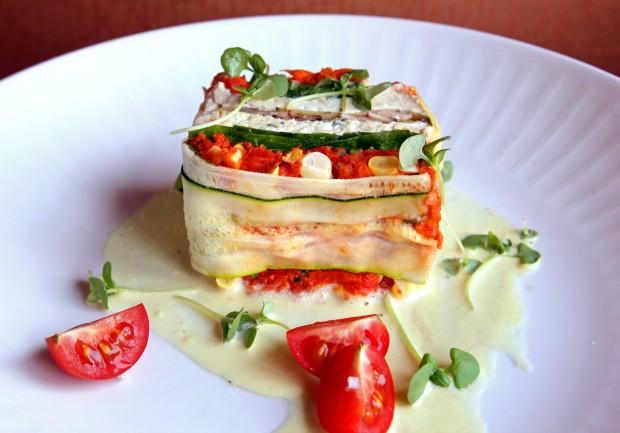 Vegetarian lasagna at Scape
