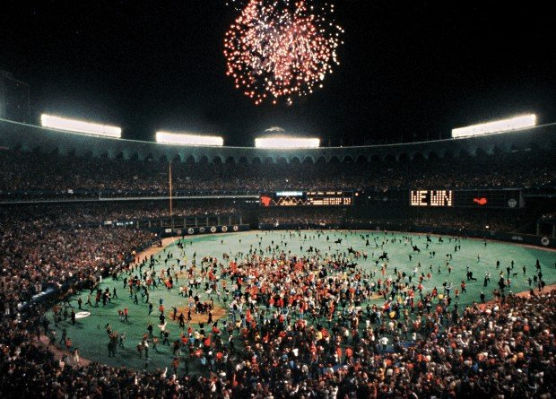 20 1982 The Scoreboard Says It All As Cardinals Fans Rush Onto Field To Celebrate World Series Victory Over Milwaukee In Seven Games