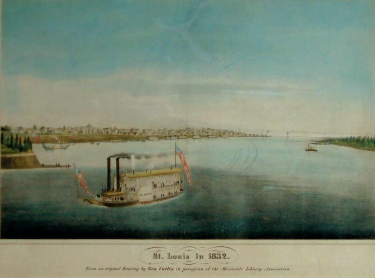 First painting of St. Louis, 1832