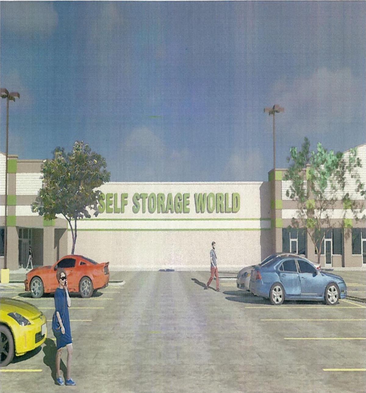 A rendering of self-storage in an old Walmart