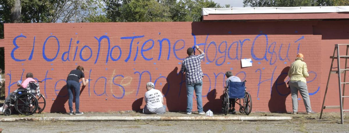 Hate Has No Home Here Volunteers Paint Over Nazi Symbols Gang