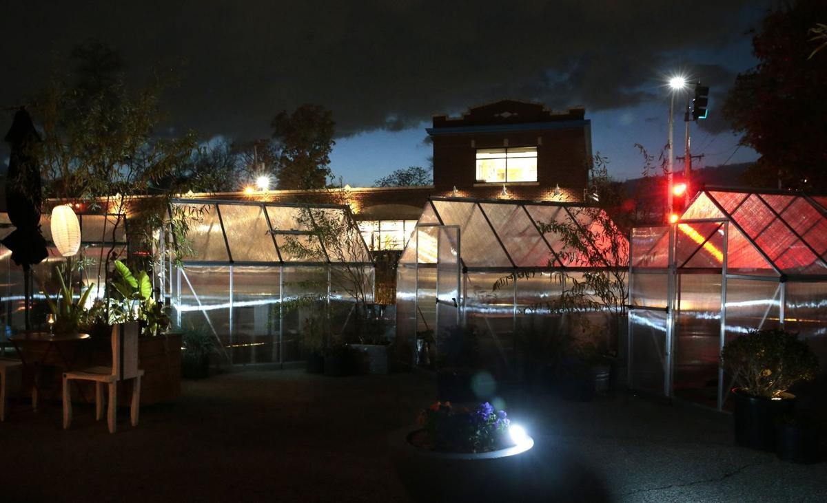 Greenhouses pop up at Olio as service moves outdoors