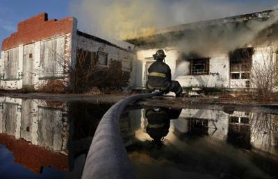 Fire destroys shuttered furniture factory in East St. Louis