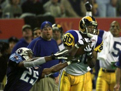 Isaac Bruce, game-winning catch in Super Bowl