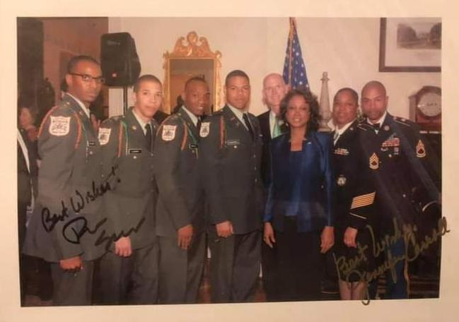 Keontra Campbell meeting with the then Governor of Florida, Senator Rick Scott