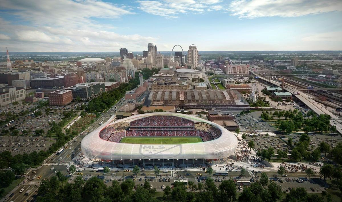 Rendering of former soccer stadium proposed for St. Louis