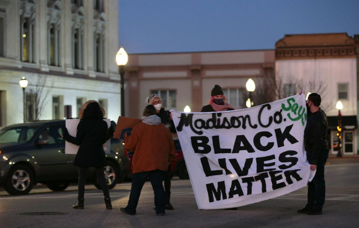 Protesters oppose Madison County Blue Lives Matter resolution