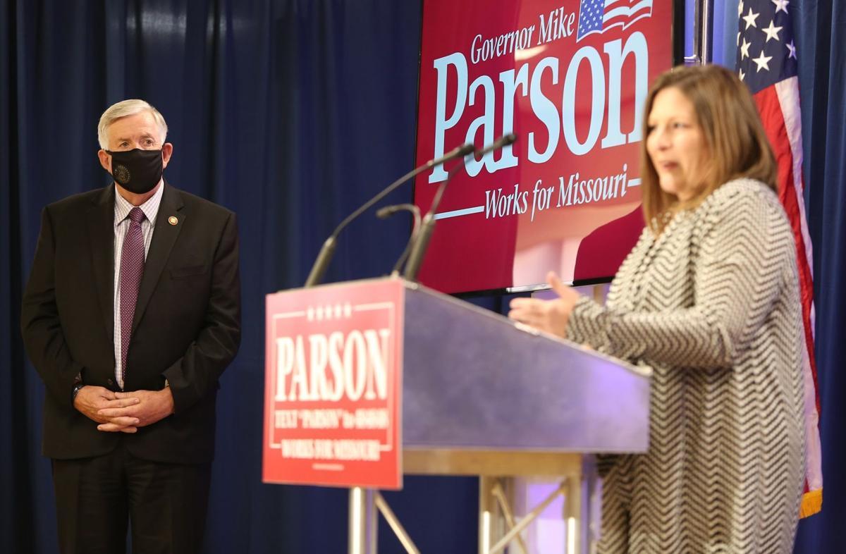 Parson speaks to law enforcement families