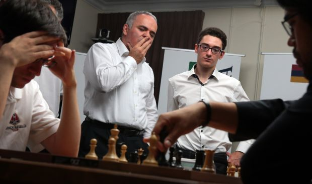 World's top-ranked Grandmasters stage chess exhibition