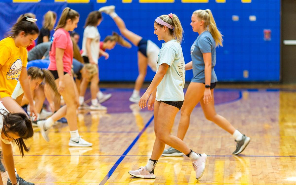 Borgia volleyball practice