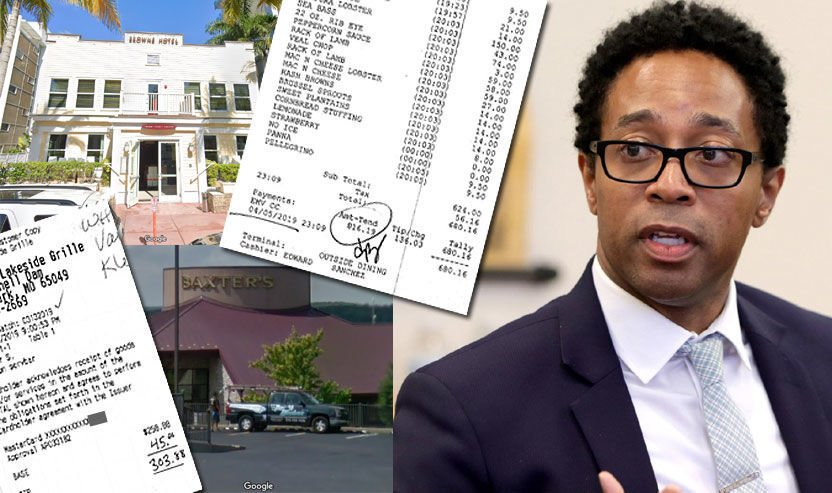 Photo illustration - Wesley Bell's office spending