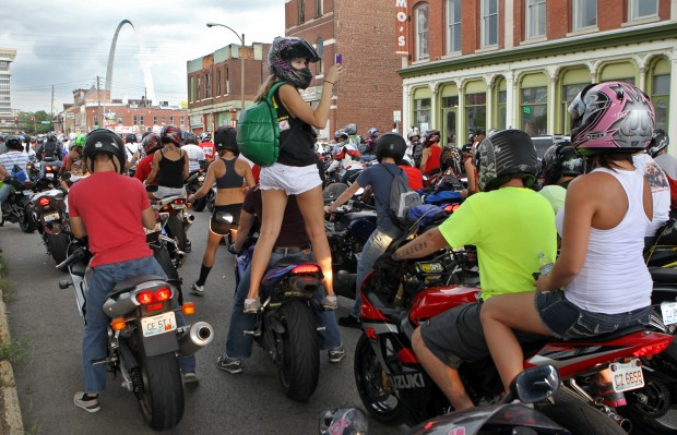 Stunt cycles flood the streets of downtown St. Louis