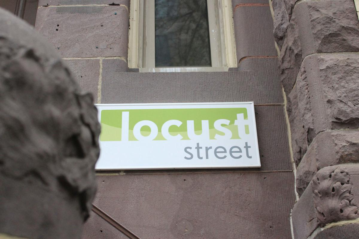 Signage for Locust Street Group's offices in Washington D.C.