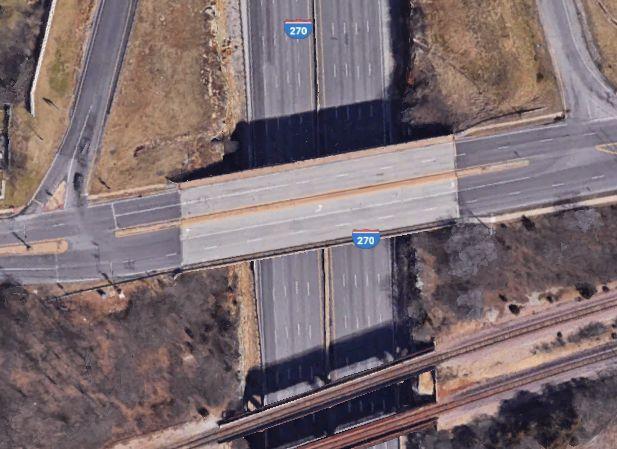I-270 overpass over Big Bend