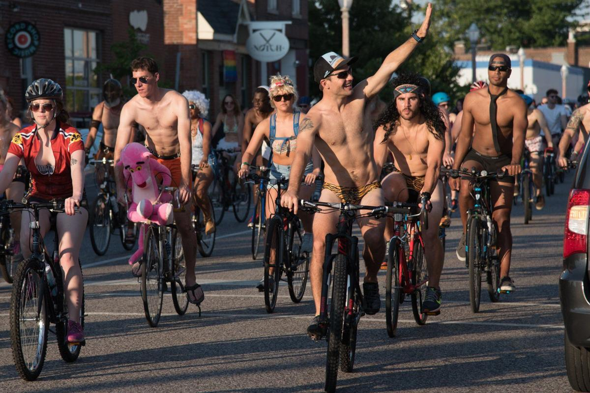 2016 World Naked Bike Ride in St. Louis