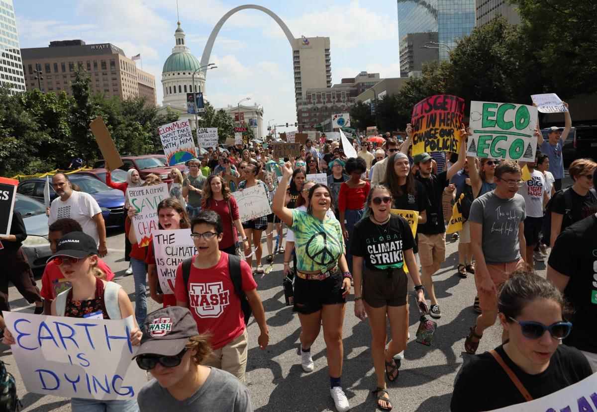 Hundreds march and protest climate inaction in St. Louis, joining worldwide movement