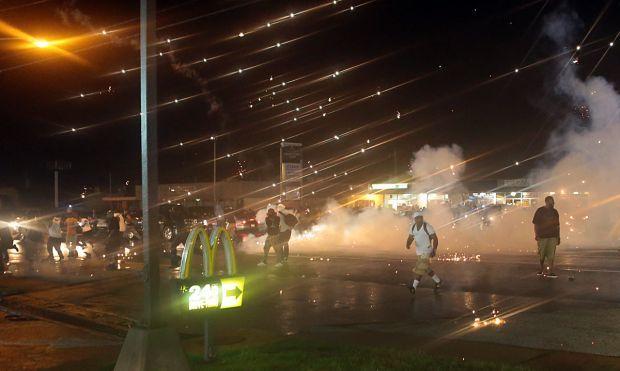 Tactical teams move in to disburse protestors