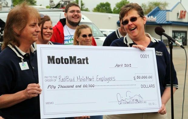 MotoMart employees get $50,000