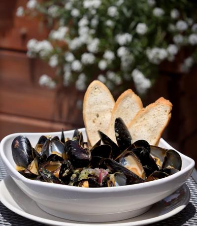 Mussels from the West End Grill and Pub