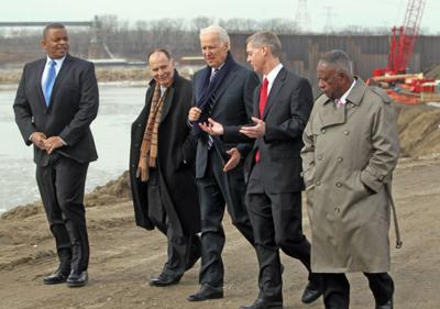 Biden uses Metro East port to make the case that federal stimulus spending works