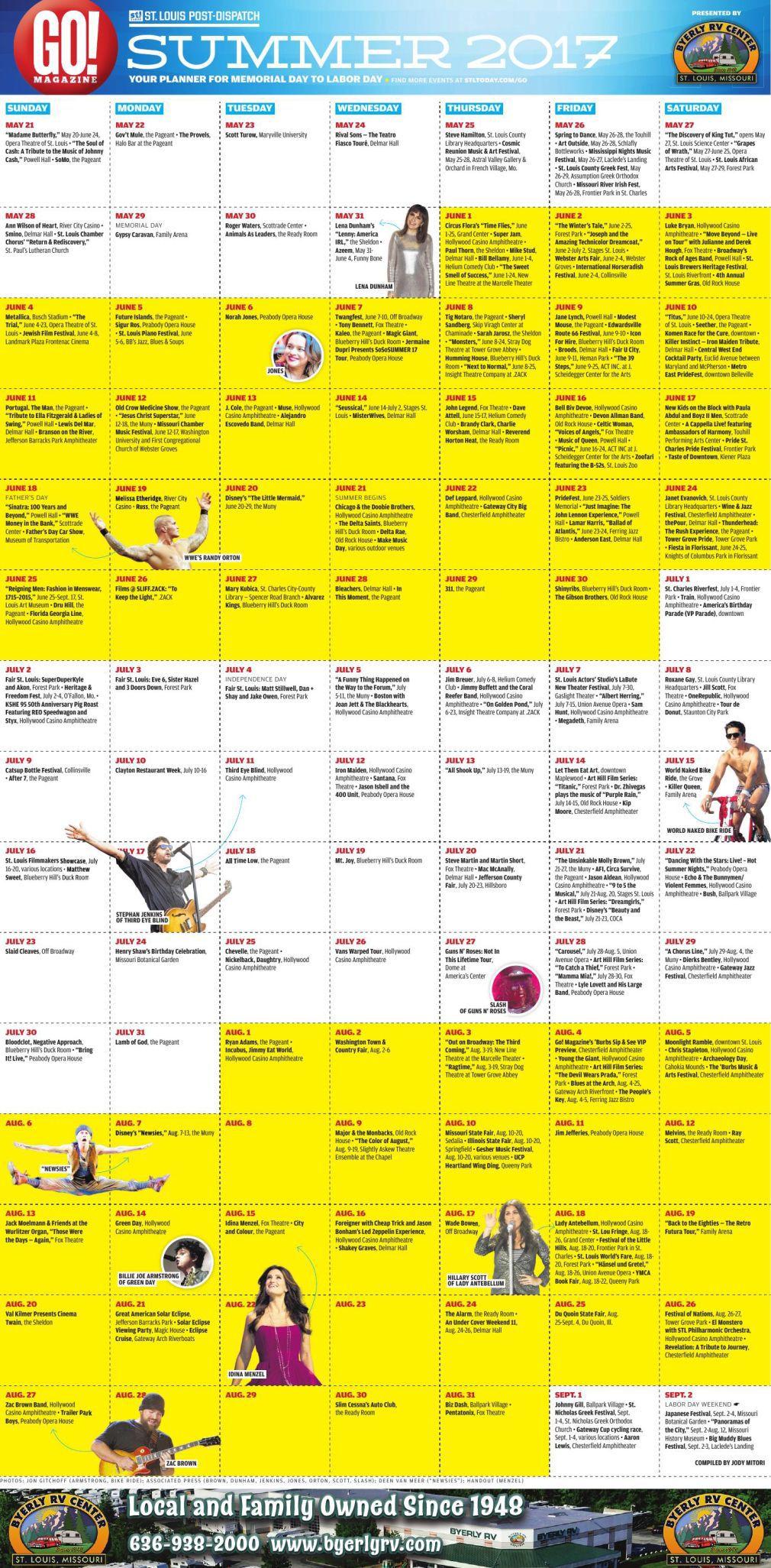 Plan For Memorial Day Through Labor Day Go Magazine S Summer Fun