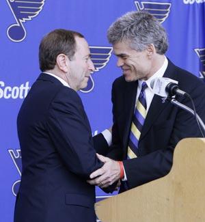 NHL commissioner introduces Blues owner Tom Stillman