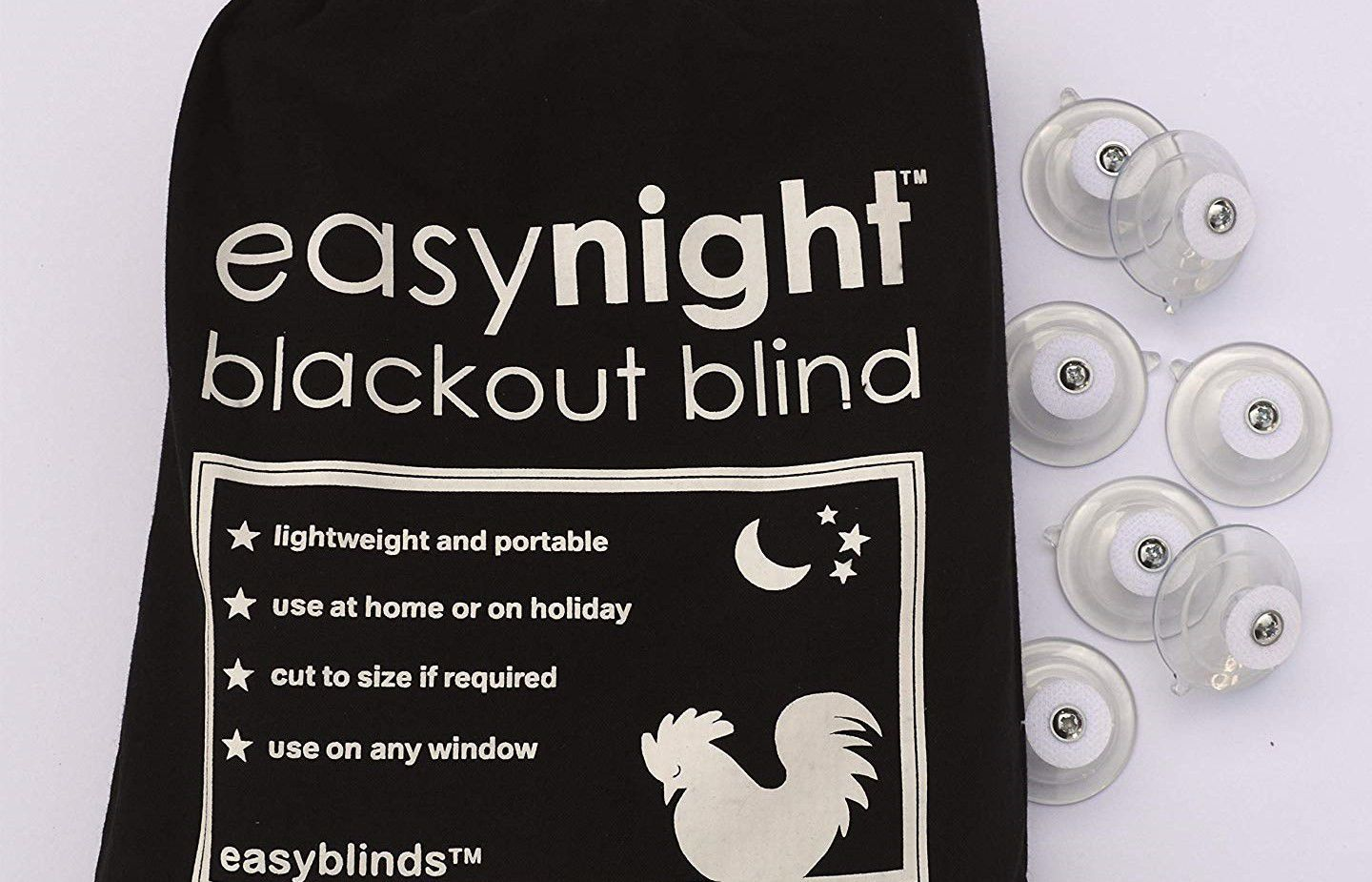 easynight blackout blind accessories Fabric Fasteners and suction cups