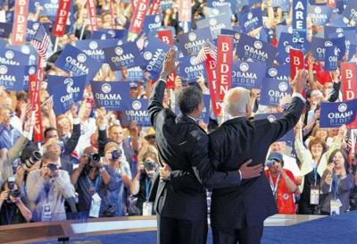 Barack Obama, Joe Biden at DNC convention