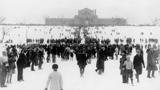 It started in 1905: A brief history of sledding on Art Hill