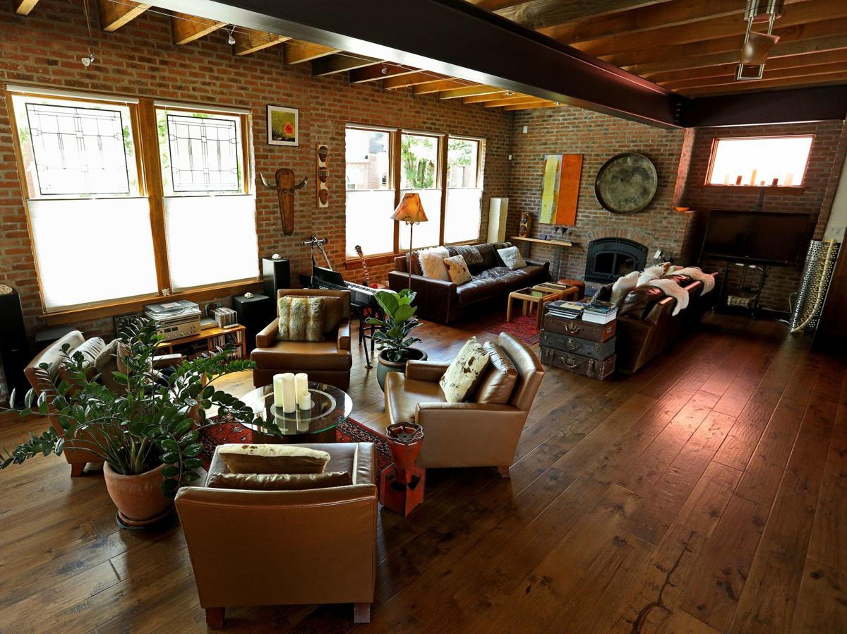 At home: Don and Phyllis' Benton Park loft