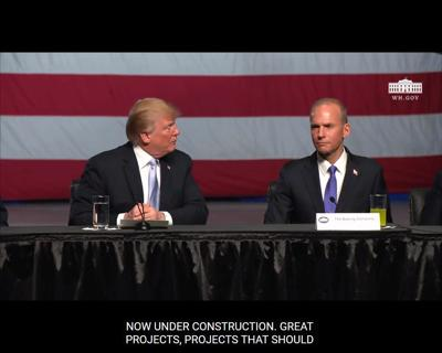 Trump and Muilenburg
