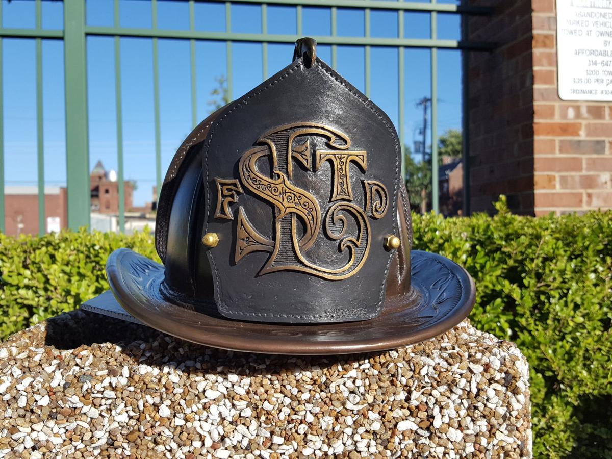 bronze fire helmet