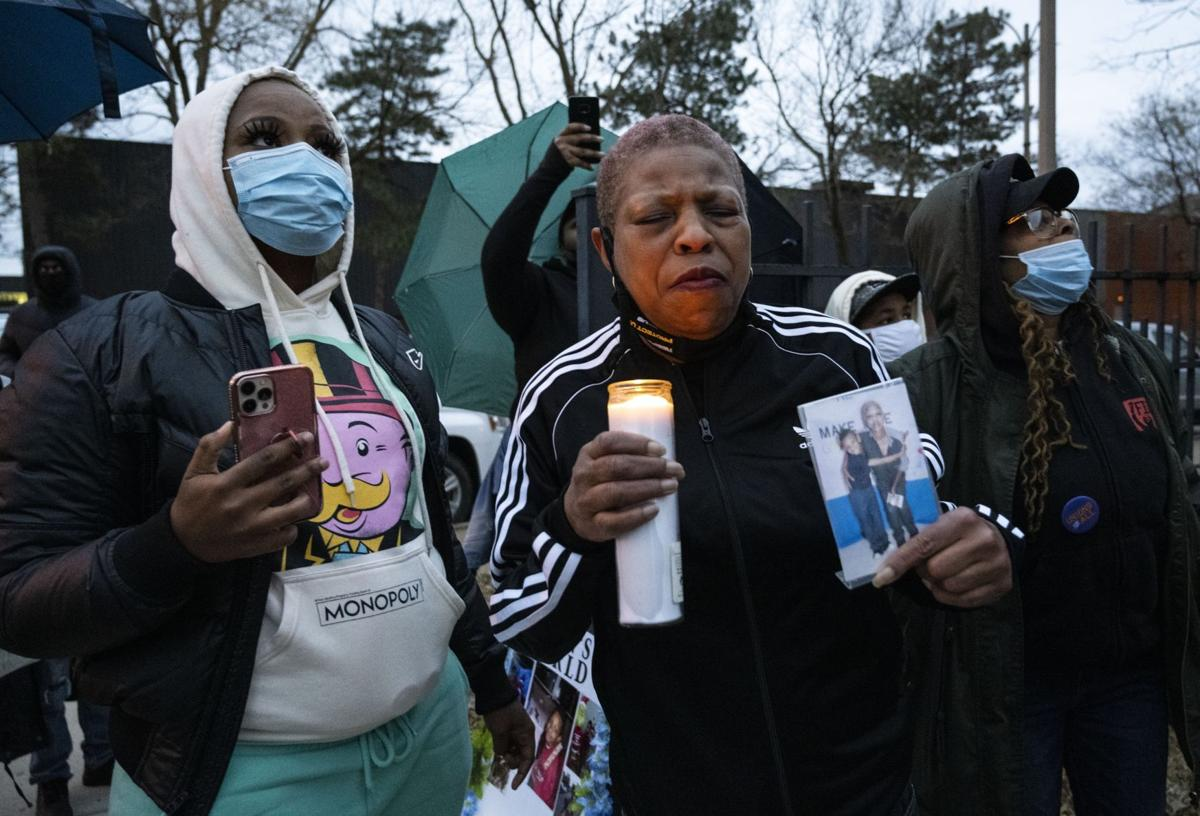 Family and friends hold vigil to honor Caion Greene