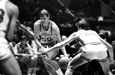 a05111de931 Missouri s John Brown (50) drives against St. John s during a NIT game in  March 1972. (AP Photo)