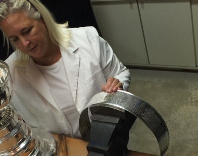 Stanley Cup engraver Louise St. Jacques