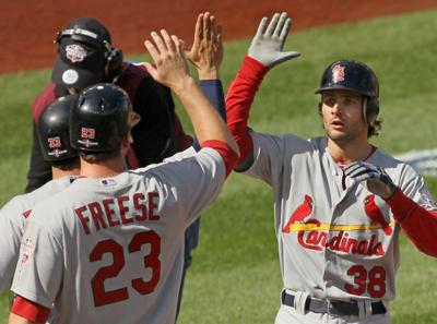 The St. Louis Cardinals vs. the Washington National in Game 3 of the NLDS