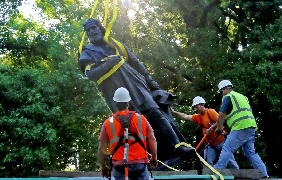 Columbus statue taken down in Tower Grove Park in St. Louis | Law ...