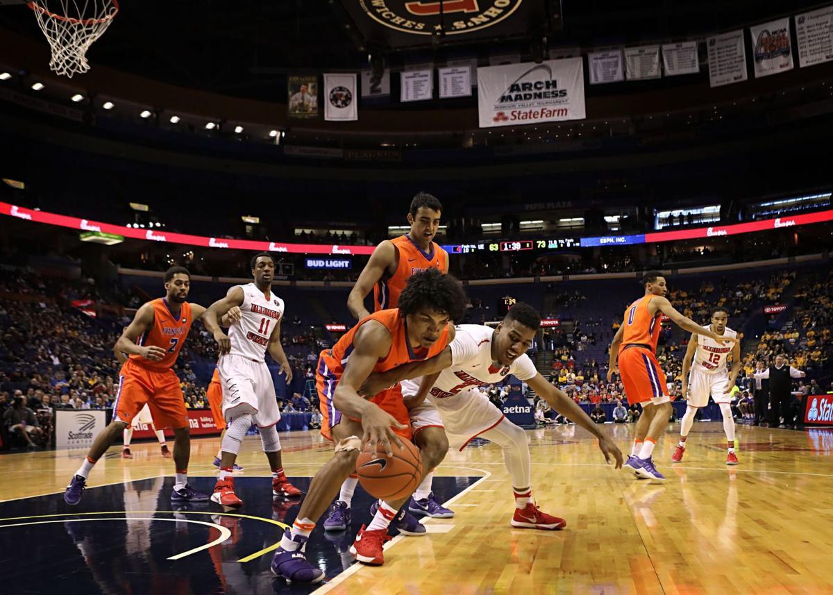 Illinois State vs Evansville Missouri Valley men's basketball tournament in St. Louis