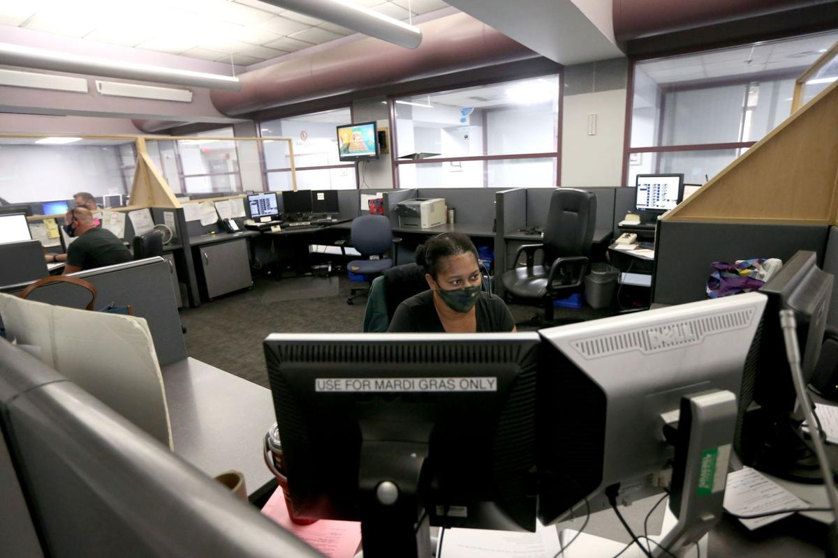 Police 911 call center downtown