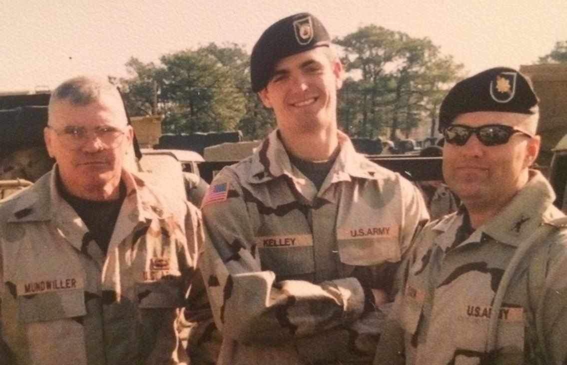 SOH Dixon on right, at Fort Bragg before shipping out to Iraq 2003.JPG