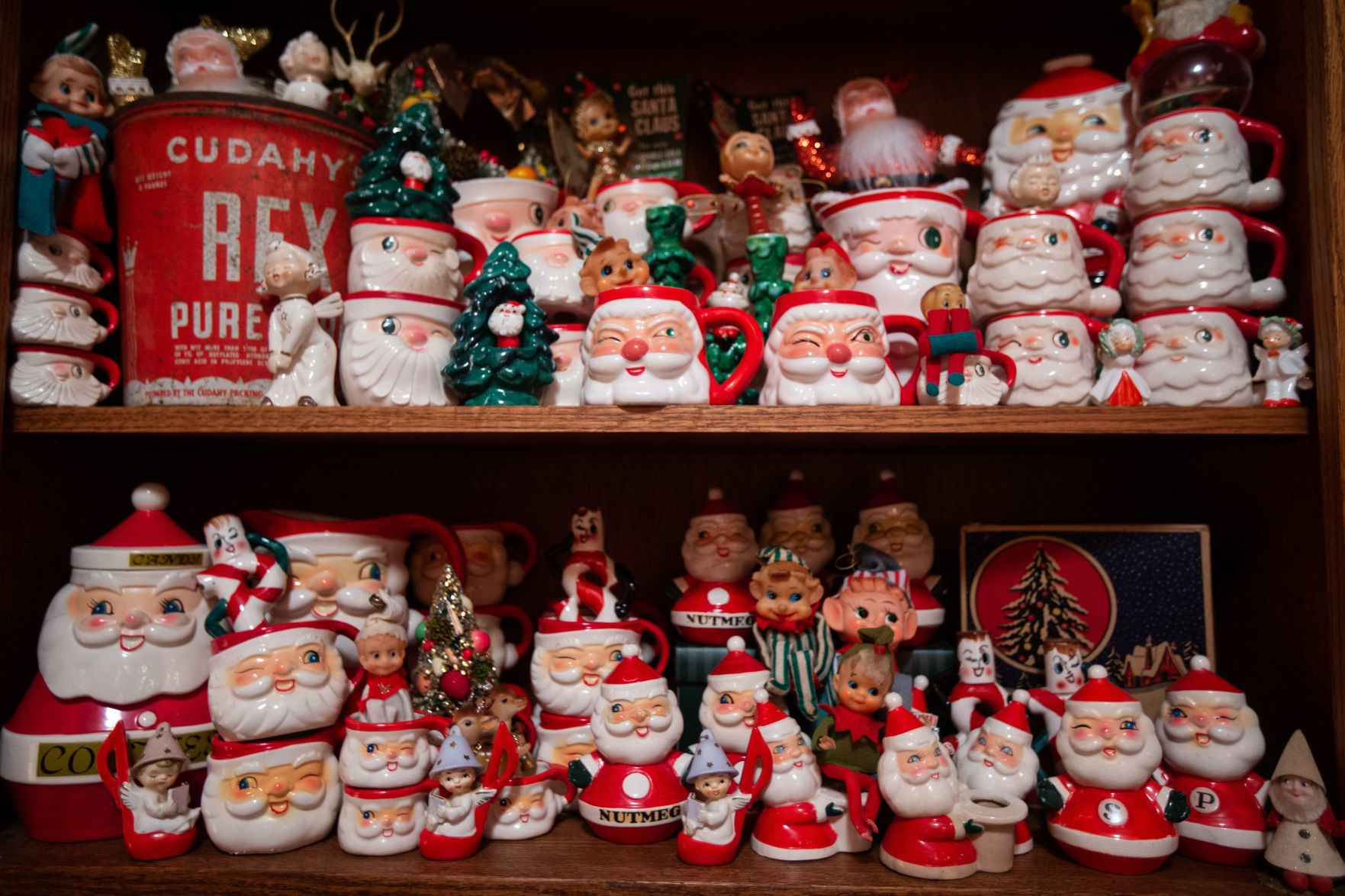 Fenton S Mrs Santa Claus Collects Santa Mugs Ornaments And Vintage Christmas Fun Home Garden Stltoday Com